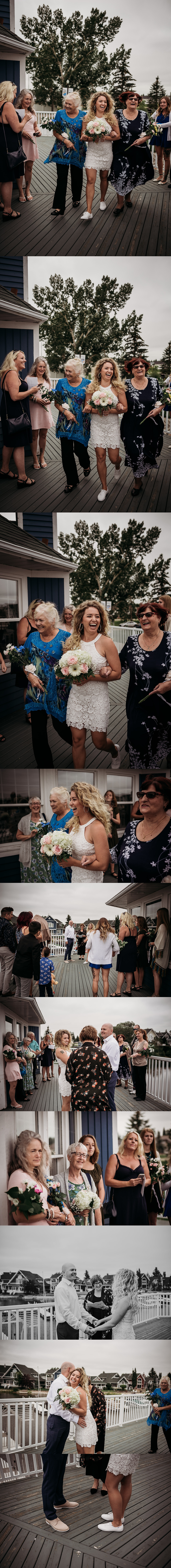 bride and groom collage of ceremony