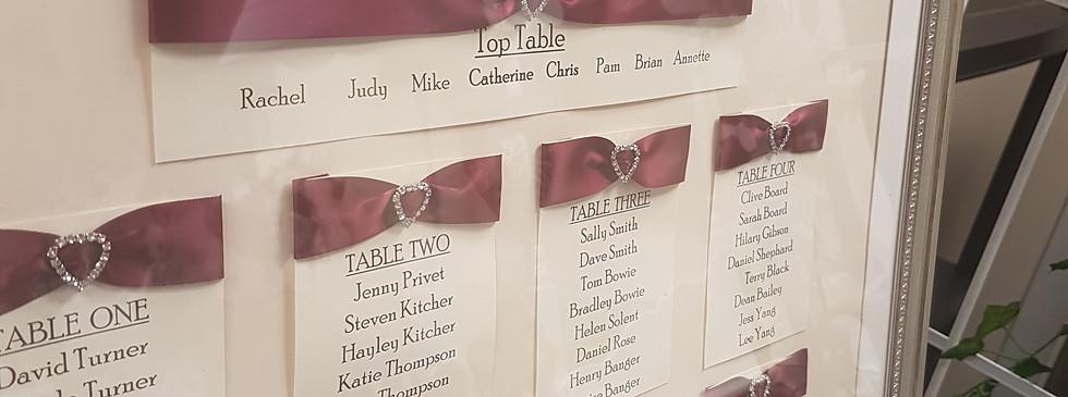 Diamante Table Plan