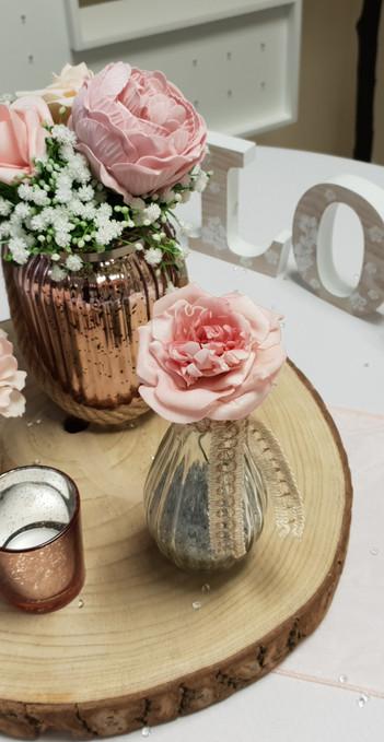 Rose Gold Log Jars