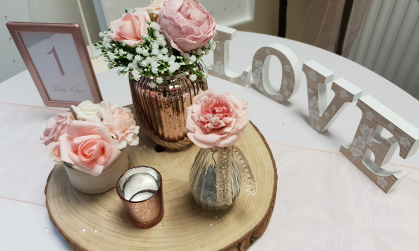 Rose Gold Log Jars