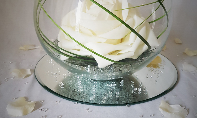 Fish Bowl White Rose