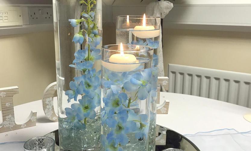Cylinder Vases Blue