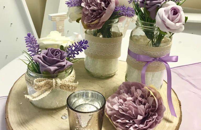 Lavender Rustic Jars