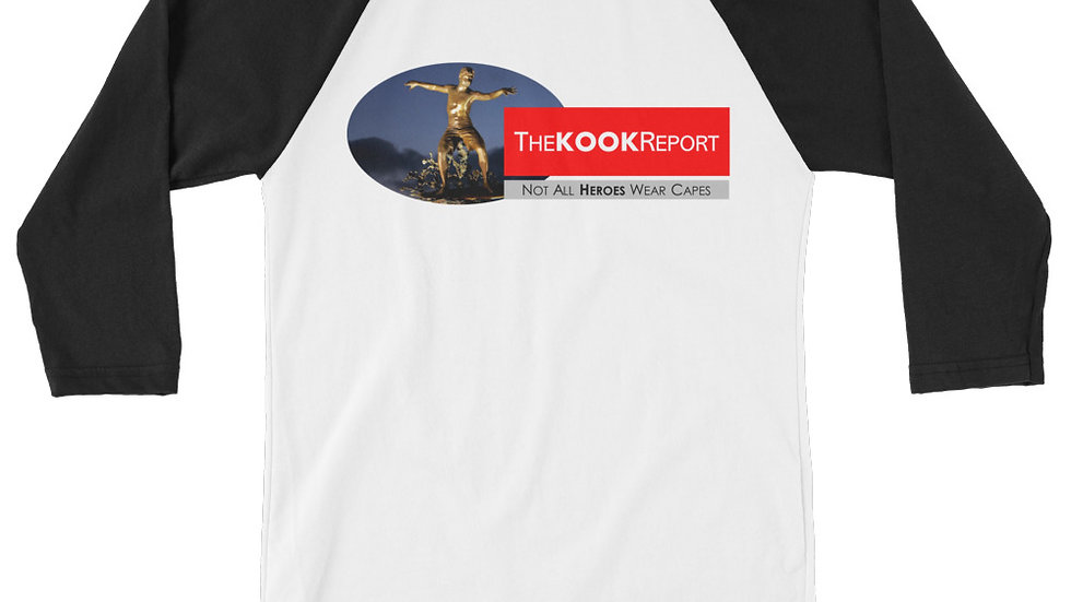 TheKOOKReport Graphic 3/4 sleeve Raglan Shirt