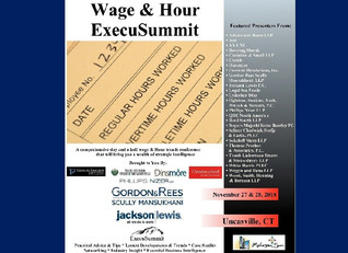 Robert Chadwick To Speak At National Wage & Hour Summit On Nov. 27