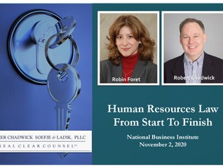 Robin Foret & Robert Chadwick Speak At Nov. 2 Webinar