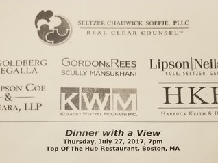 Firm Co-Hosts Dinner for Insurance Claims Professionals in Boston