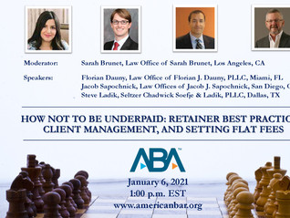 Steve Ladik Speaks At ABA Webinar