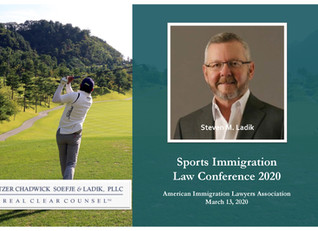 Steve Ladik Speaks At Sports Immigration Law Conference