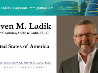 Steve Ladik Recognized As Thought Leader In Corporate Immigration