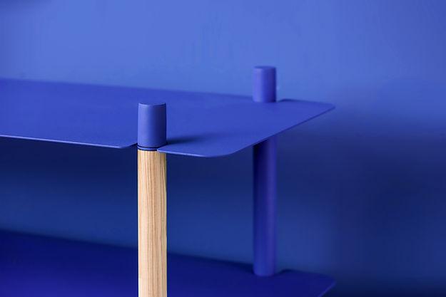 Stand bleu
