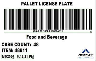 Pallet License Plate Label LPN Barcode.p