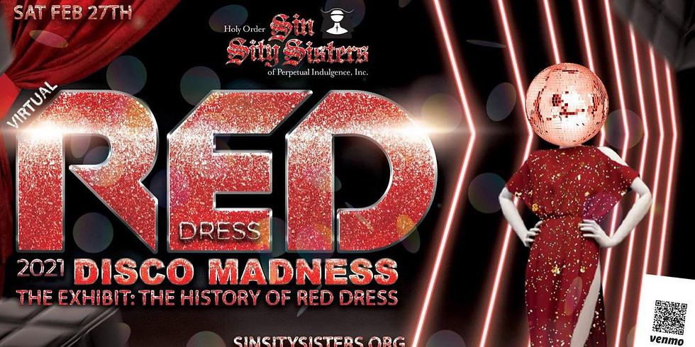 Virtual Red Dress 2021 - DISCO MADNESS the EXHIBIT the HISTORY of RED DRESS