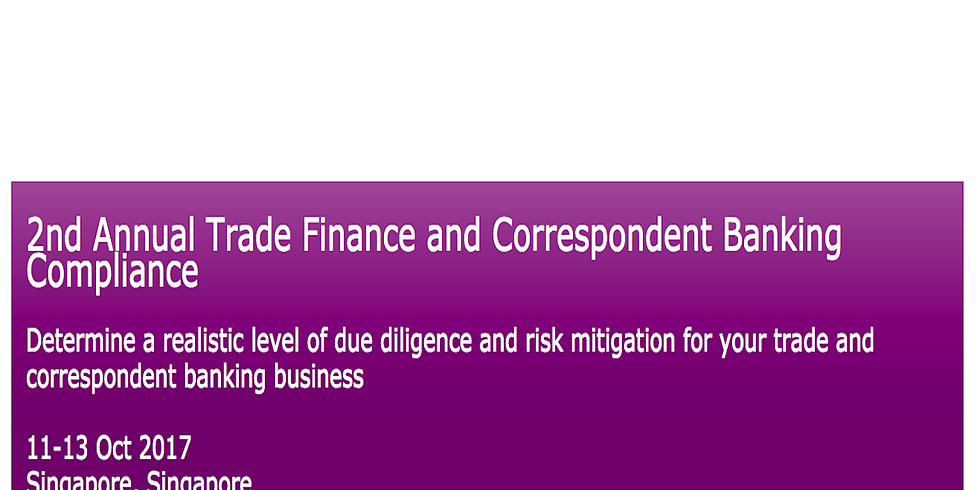 2nd Annual Trade Finance and Correspondent Banking Compliance