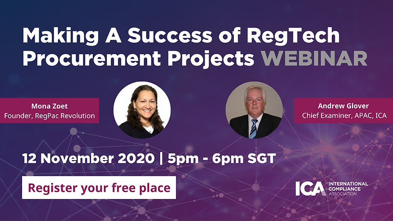 Making a success of RegTech procurement projects - Webinar