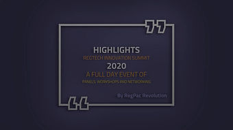 RegPac Innovation Summit 2020