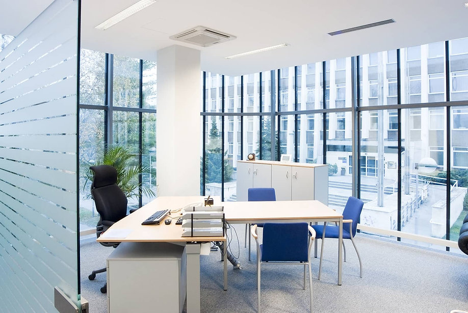 A clean office building