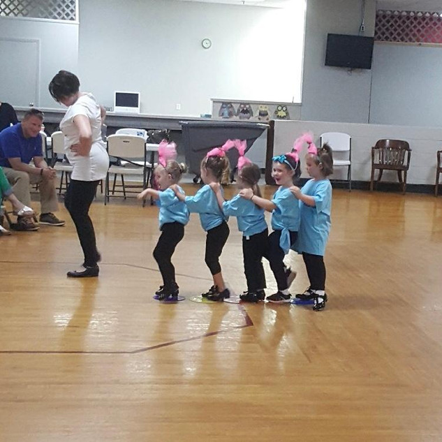 Tap dancers at the recital.