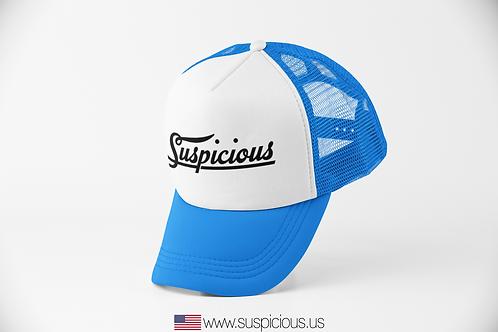Suspicious - Blue/White Hat