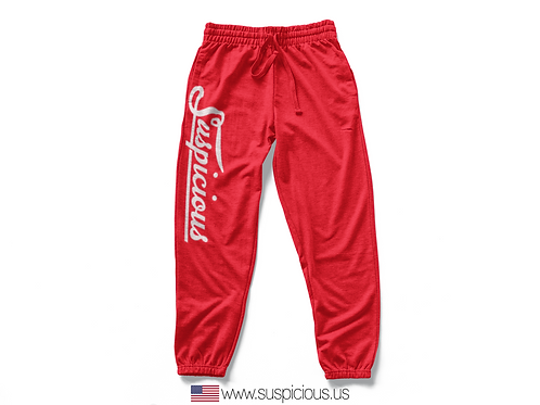 Suspicious - Red Sweat Pants