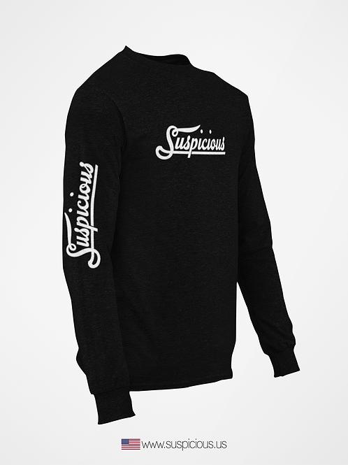 Suspicious - Black Sweat Shirt