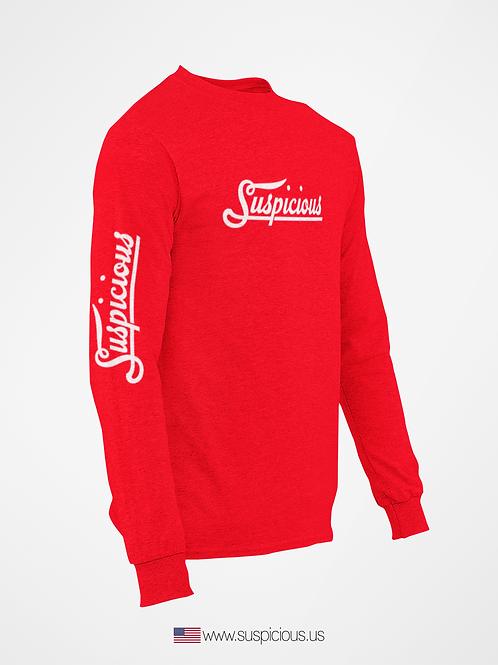 Suspicious - Red Sweat Shirt
