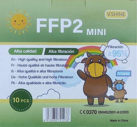 Mascarillas Infantiles FFP2 Colores (Caja10 uds.)