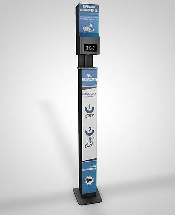 Dispensador Gel Hidro/Temperatura  Automático