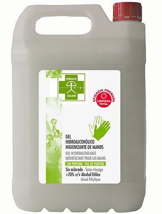 Garrafa Gel Hidroalcohólico 5L (Sin perfume)