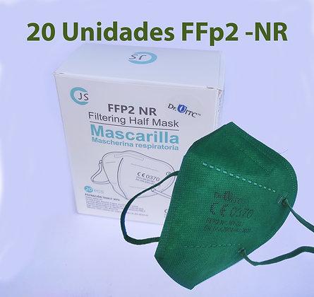 Mascarillas FFP2 Verde Militar (Caja 20 uds.)
