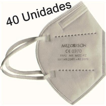 Mascarillas FFP2 Blancas Mezorrison (Caja 40 uds.)