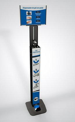 Dispensador Gel Hidroalcohólico (Bote redondo)