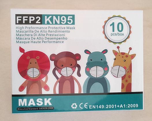 Mascarillas Infantiles FFP2 (Caja10 uds.)