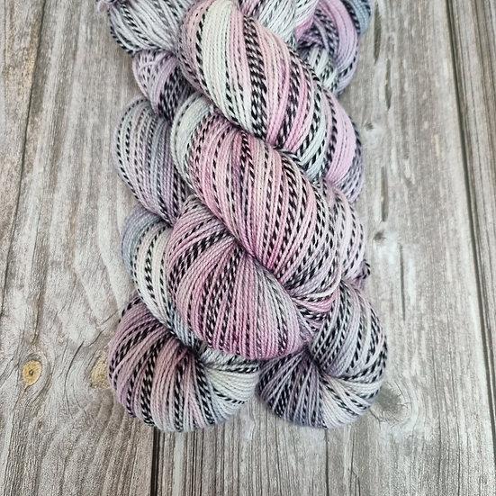 Black Stripes Socks Merino - rose meets grey