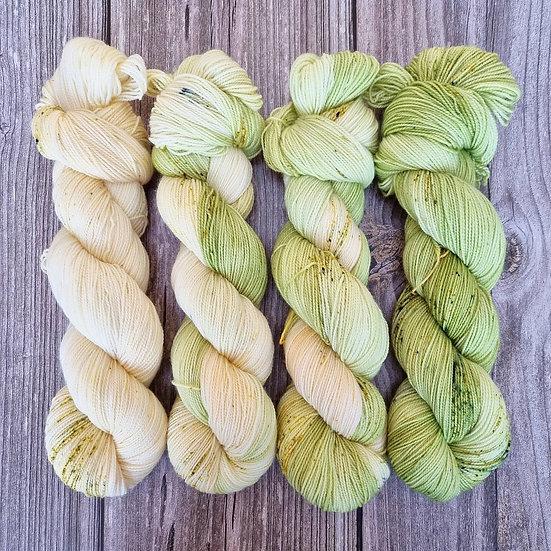 High Twist Sock Merino Fade - Spring