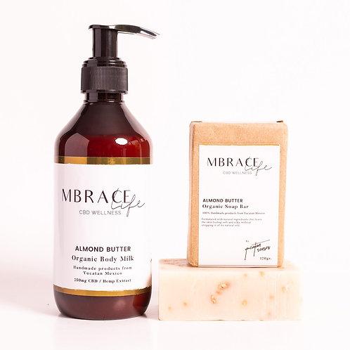 Almond Butter Set, Body milk and Soap bar