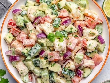 Shrimp and Avocado summer salad