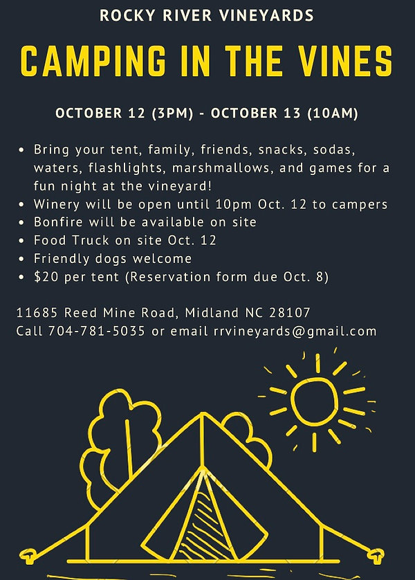 Black and Yellow Tent Summer Camp Flyer
