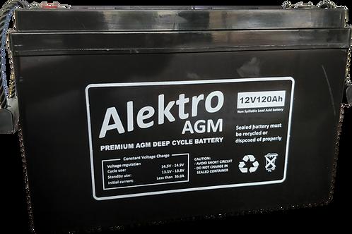 120AH Alektro AGM Glass Mat battery***PICK UP ONLY***