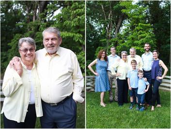 Turner Family Reunion at Log Cabin in Shenandoah, VA