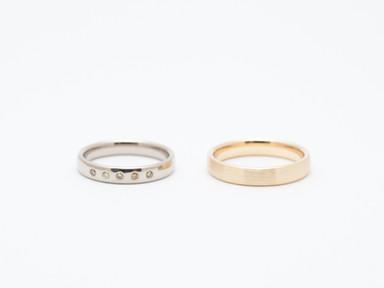 Witgoud, geelgoud en verschillende tinten diamant