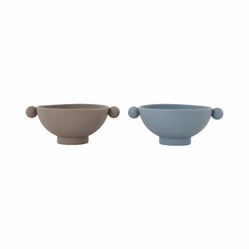 Dusty Blue / Clay | Tiny Inka Bowl | Oyoy Living