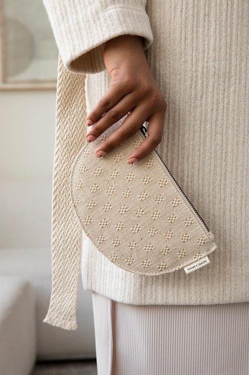Mondo hard moon wallet | linen | Monk & Anna