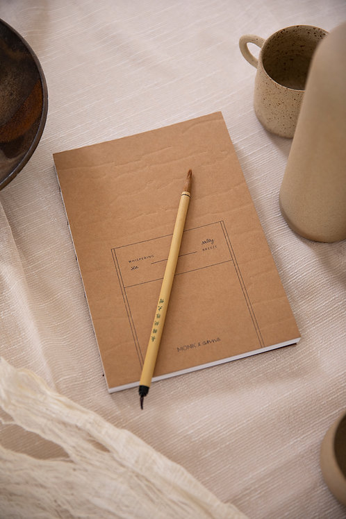 Notebook L | kraft & shapes | Monk & Anna