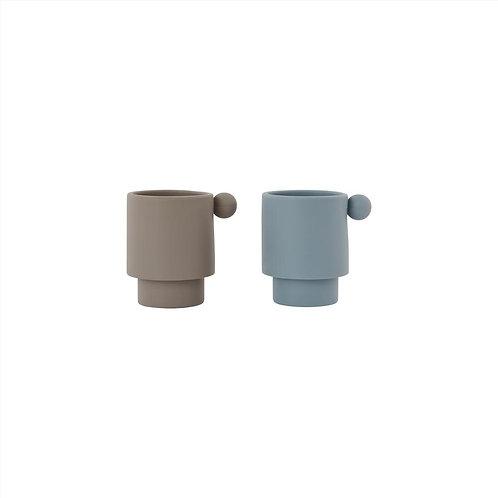 Dusty Blue / Clay | Tiny Inka Cup | Oyoy Living