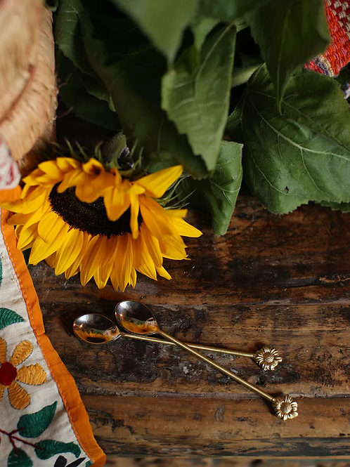 Sunny Sunflower   Theelepel setje van 2   Doing Goods