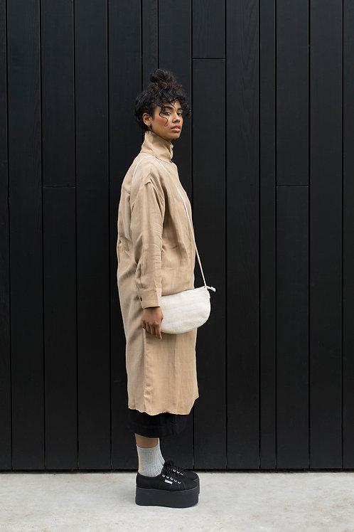 Farou half moon bag | linen | Monk & Anna
