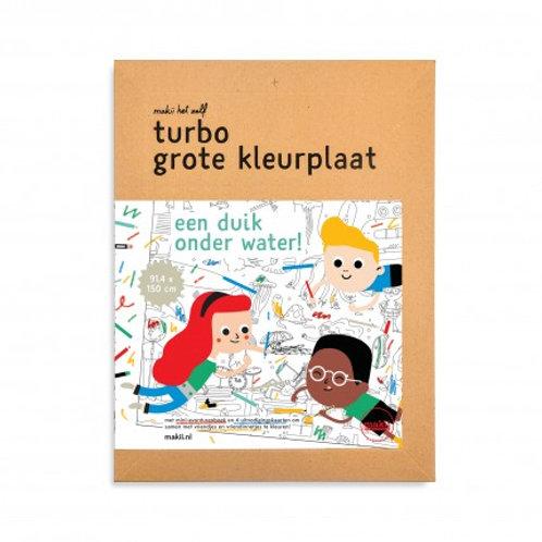 Turbo grote kleurplaat | Water | Makii