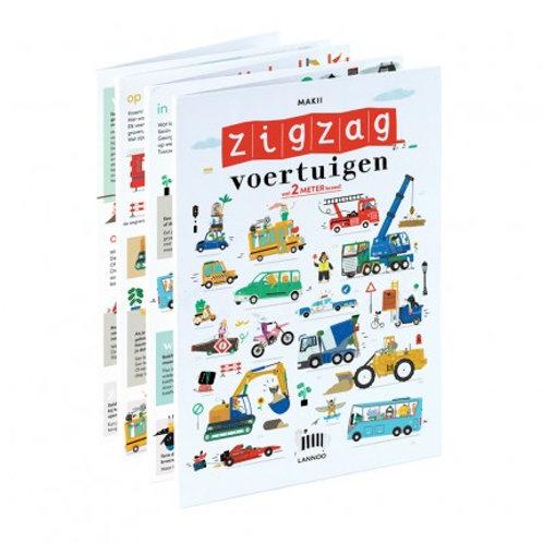 ZigZag Voertuigen boek | 2 meter breed! |  Makii