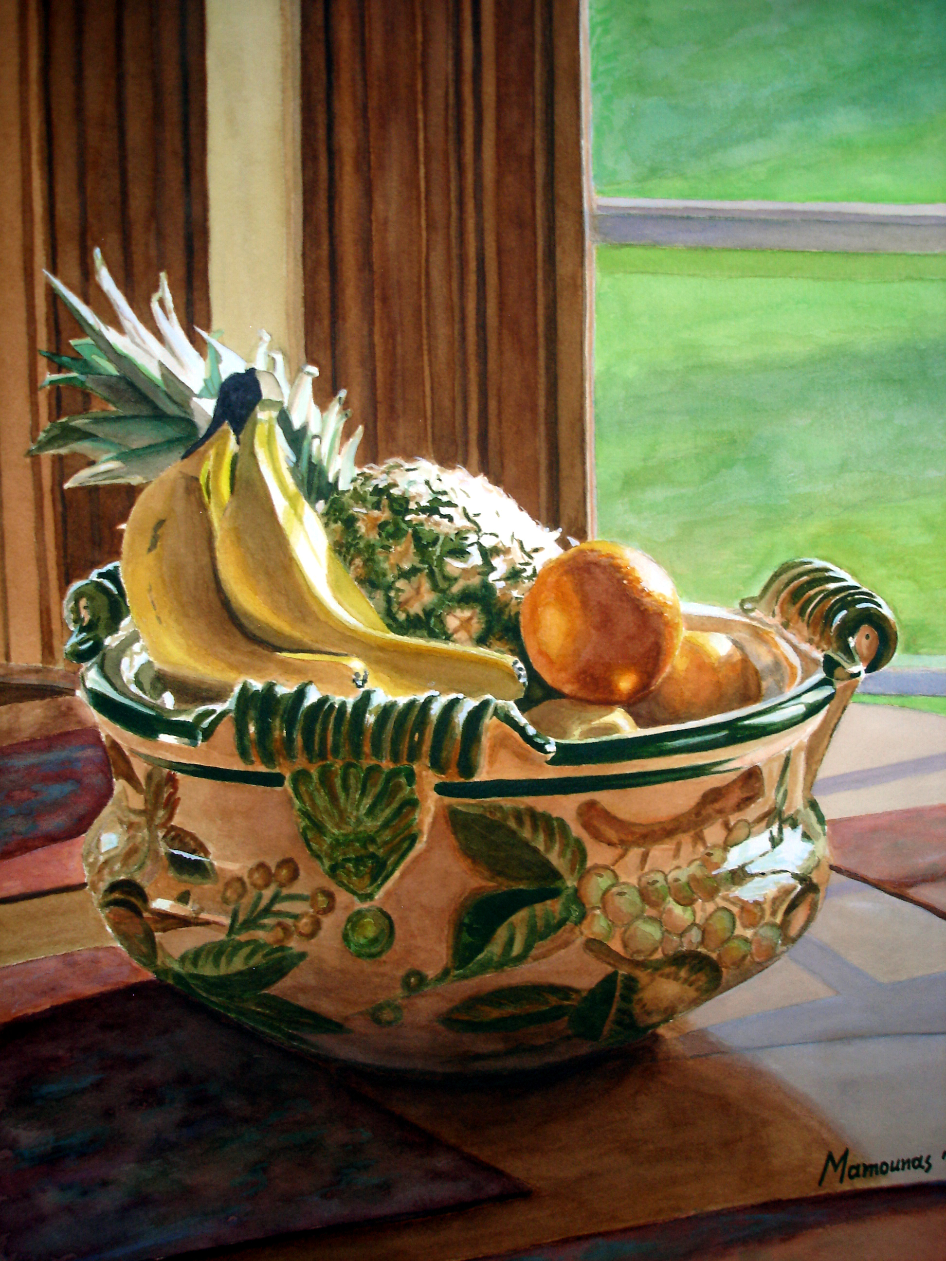 STILL LIFE FRUITS AND BOWL